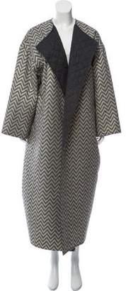 Isaac Mizrahi Oversize Chevron Coat