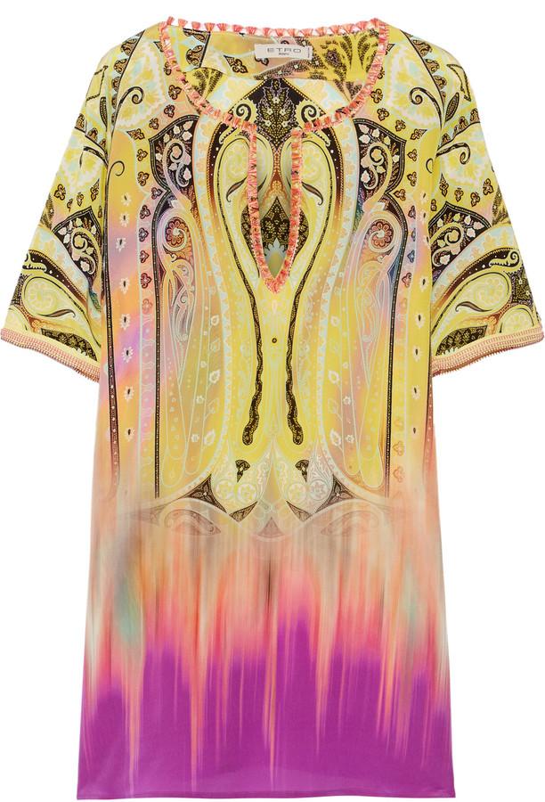 EtroEtro Printed silk-crepe tunic