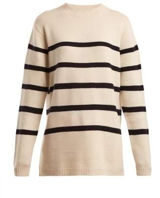 Raey Loose-fit Breton cashmere sweater