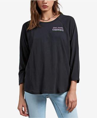 Volcom Juniors' Pop Rocket Cotton Raglan T-Shirt