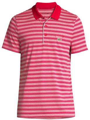 Lacoste Ultra Dry Striped Golf Polo