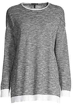 Eileen Fisher Women's Roundneck Organic Linen Cotton Sweater