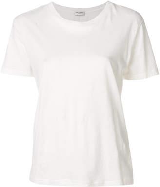 Saint Laurent holed crew neck T-shirt