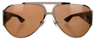 Chrome Hearts Back Door Aviator Sunglasses