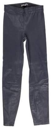 Vince Leather Mid-Rise Leggings