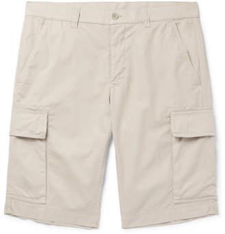 Aspesi Slim-Fit Garment-Dyed Cotton-Twill Cargo Shorts