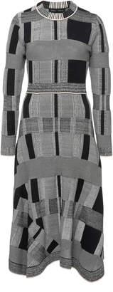 Proenza Schouler Patchwork Plaid Jersey Dress