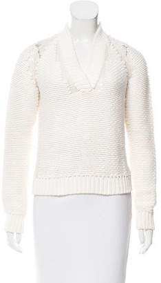 Malo Shawl Collar Cashmere-Blend Sweater