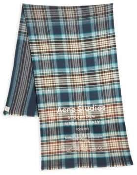 Acne Studios Cassiar Wool Check Scarf