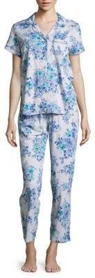 Karen Neuburger Floral Short Sleeve Top and Pants Pajama Set
