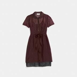 Coach Star Print Shirt Dress