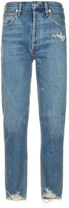 A Gold E Agolde Jamie High Rise Jeans