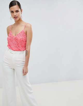 Asos Design DESIGN Body With Sequin Embellishment