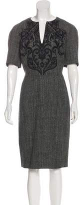Etro Embroidered Sheath Dress Black Embroidered Sheath Dress
