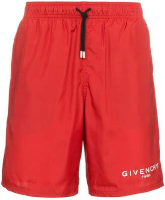 Givenchy paris logo swim shorts