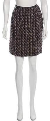 Lanvin Wool Knee-Length Skirt Brown Wool Knee-Length Skirt