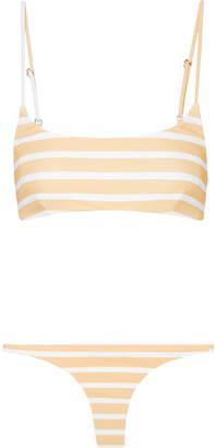 Faithfull The Brand Striped Bikini - White
