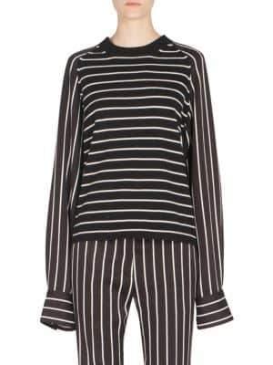 Haider Ackermann Striped Wool & Cashmere Pullover
