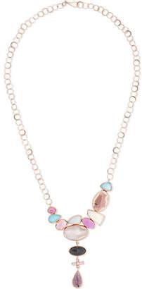 Melissa Joy Manning 14-karat Rose Gold Multi-stone Necklace - one size