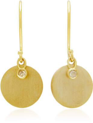 Ila Delphine 14K Gold Diamond Earrings