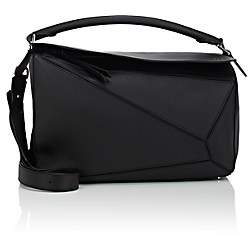 Loewe Women's Puzzle Large Leather Shoulder Bag - Black