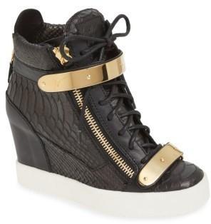 Women's Giuseppe Zanotti Wedge Sneaker $995 thestylecure.com