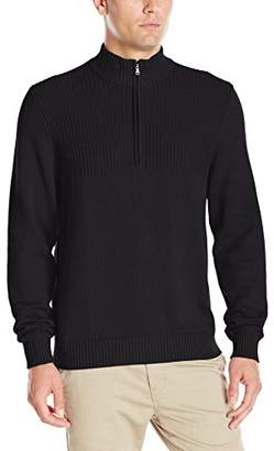 Izod Men's Saltwater Solid 1/4 Zip Sweater