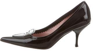 Miu MiuMiu Miu Patent Leather Pointed-Toe Pumps