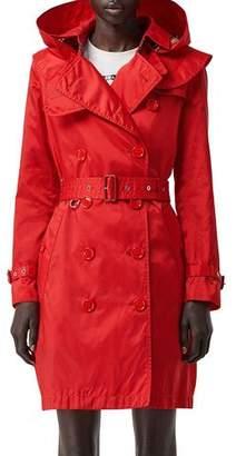 Burberry Kensington Nylon Hooded Trench Coat