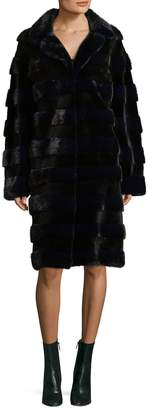 Oscar de la Renta Women's Textured Mink Fur Coat