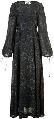 OSKLEN leopard print maxi dress