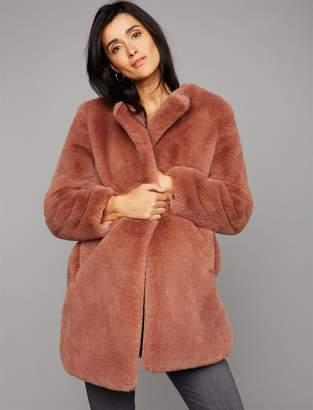 A Pea in the Pod BB Dakota Faux Fur Maternity Jacket