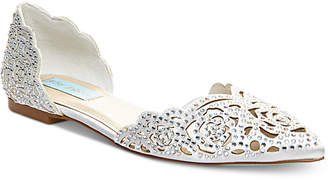 Betsey Johnson Blue by Lucy Embellished Flats Women's Shoes
