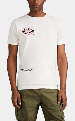 Off-White Off - White c/o Virgil Abloh Men's Dondi Cotton T-Shirt - White
