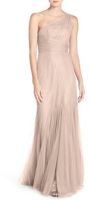 Women's Monique Lhuillier Bridesmaids One-Shoulder Tulle Trumpet Gown $270 thestylecure.com
