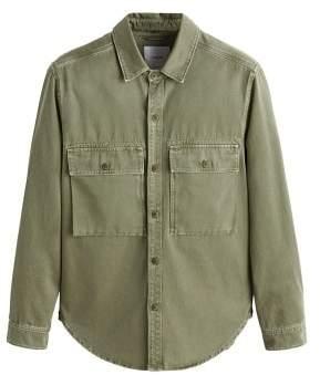 MANGO Pocket denim overshirt