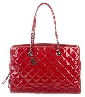 a8fcd63371b1 Chanel Patent CC Angle Shopper Tote