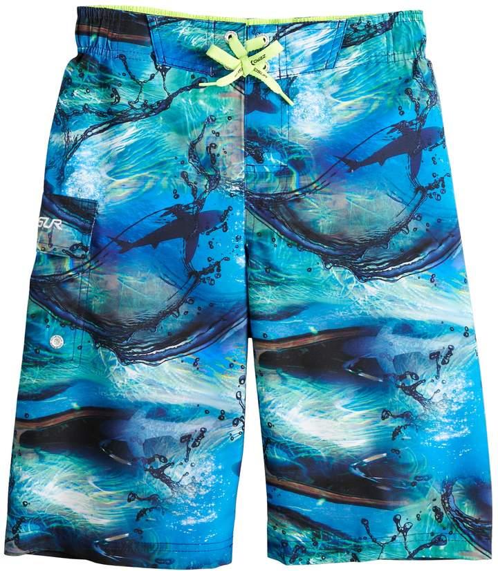Boys 8-20 Shark Adventure Swim Trunks