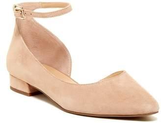 Franco Sarto Slide Suede Ankle Strap Flat $89 thestylecure.com