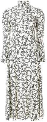 Valentino graphic print midi dress