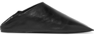 Balenciaga - Leather Slippers - Black $545 thestylecure.com