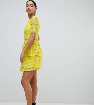 Missguided Lace Layered Mini Dress