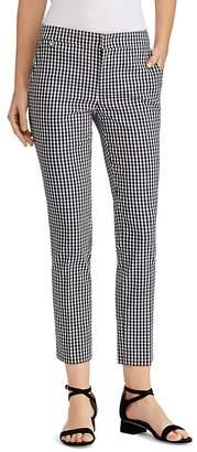 Lauren Ralph Lauren Gingham Skinny Cropped Pants