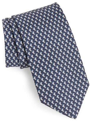 Salvatore Ferragamo Eraldo Print Silk Tie