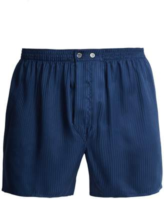 Derek Rose Woburn silk boxer shorts