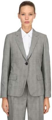 Salvatore Ferragamo Wool Prince Of Wales Blazer