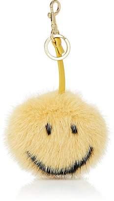 Anya Hindmarch Women's Smiley Mink Fur Bag Charm - Yellow