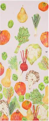 Cjw 'Winter Fruit and Vegetable' graphic print wool scarf