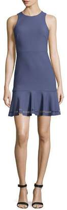 Elizabeth and James Hadley Fit-and-Flare Ponte Dress, Indigo $385 thestylecure.com