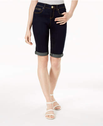 INC International Concepts I.N.C. Curvy-Fit Tikglo Cuffed Denim Shorts, Created for Macy's